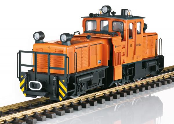 Schienenreinigungslok, orange