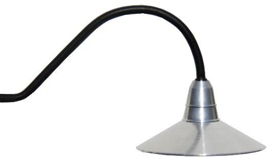 Wandlampe gebogen mit LED, große Version