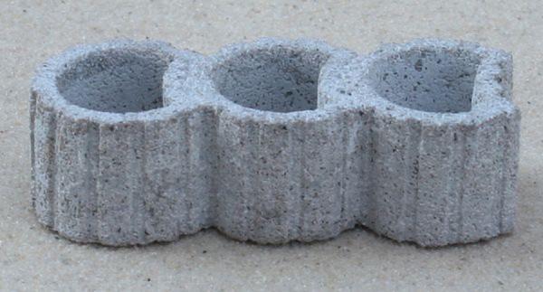 Pflanzring 3-fach porig grau, 3 Stück
