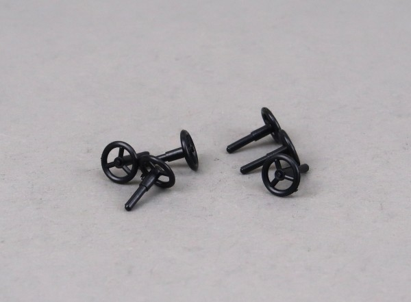 Handrad schwarz, 6 Stück
