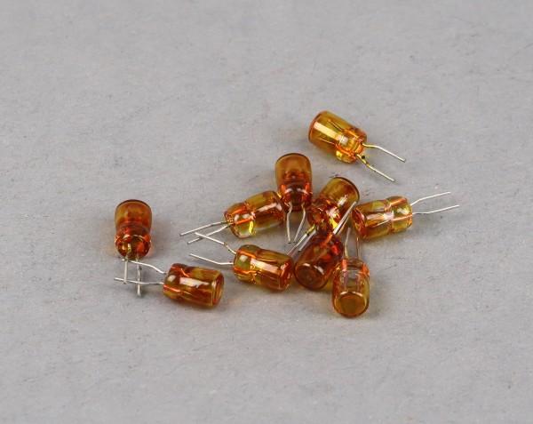 Micro-Steck-Birnen gelb, 5 Volt, 10 Stück