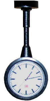 Kleine Uhr für Bahnhöfe und Bahnsteige