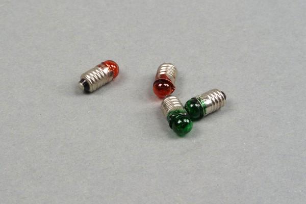 Glühlampen für Lichtsignal, 2x grün, 2x rot