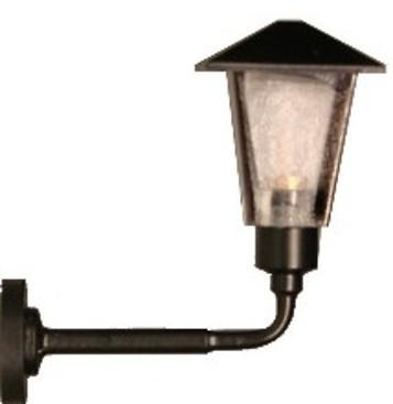 Kleine Wandlampe mit eckigem Gehäuse