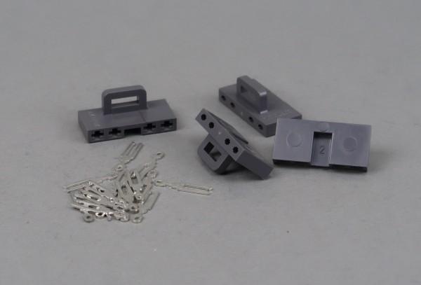 Getriebestecker grau, 4 Stück