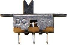 Schiebe-Umschalter 1-polig, 18x12mm, 2 Stück