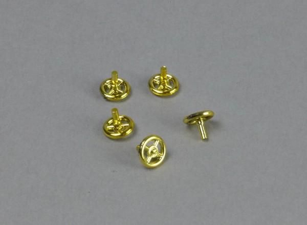 Handrad klein, gold, 5 Stück